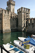 Europe, italy, italian, northern, northern italy, lombardy, brescia, sirmione, garda, lake garda, lake, lakes, architecture, castle, castles, scaliger, scaliger castle, fort, forts, fortress, fortresses, moat, moats.