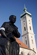 Europe, germany, german, bavaria, munich, statue, statues, clock, clocks, church, heilggeistkirche, architecture, religion, religious, religious building, religious buldings, tower, towers, FF25,