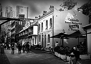 Australia, New South Wales, sydney, the rocks, architecture, argyle, argyle lane, restaurant, restaurants, café, cafes, umbrella, umbrellas, street, streets, CS34,