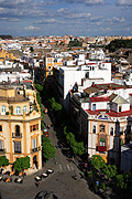 Spain, seville, spanish, roof, roofs, rooves, cloud, clouds, architecture, house, houses, housing, roof, roofs, rooves, FF25,