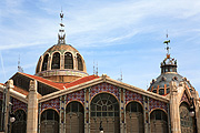 Europe, Spain, Spanish, Valencia, architecture, central market, market, markets, cupola, cupolas, dome, domes, arch, arches, archway, archways, FF25,