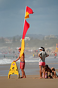 Australia, qld, queensland, surfers paradise, gold coast, beach, beaches, lifesaver, lifesavers, lifesaving, flag, flags, safety, lifeguard, lifeguards, family, families, woman, women, female, females, people, man, men, male, males, occupation, occupations.