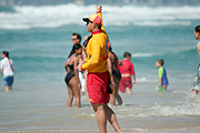 Australia, qld, queensland, surfers paradise, gold coast, beach, beaches, lifesaver, lifesavers, lifesaving, safety, man, men, male, males, occupation, occupations.