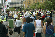 Australia, New South Wales, Architecture, Sydney, Sydney Harbour, Sydney Harbor, Sydney Harbour Bridge, anniversary, anniversaries, people, crowd, crowds.