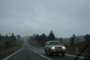 Australia, New South Wales, warwick, road, roads, sealed, sealed road, sealed roads, highway, highways, new england, great dividing range, new england highway, rain, rains, raining, traffic, car, cars, transport, transportation, vehicle, vehicles.