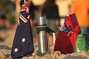 Australia, flask, flasks, thermos flask, thermos flasks, flag, flags, australian, australian flag, australian flags, picnic, picnics, sand, gold coast, qld, queensland.