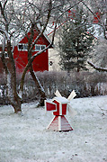 Finland, winter, snow, snow scene, snow scenes, windmill, windmills, tree, trees, house, houses, housing, BS65,