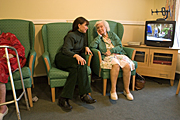 People, woman, women, people, woman, women, aged care, aged care facility, aged care facilities, female, females, old, aged, elderly, old woman, old women, elderly woman, elderly women, pensioner, pensioners, nursing home, nursing homes, bedroom, bedrooms, bed, beds, indoors, television, televisions, Australia, Sport pictures, Sports, balloon images, hot air balloons