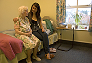 People, child, children, puberty, woman, women, people, child, children, puberty, woman, women, aged care, aged care facility, aged care facilities, teenager, teenagers, teenage girl, teenage girls, girl, girls, female, females, old, aged, elderly, old woman, old women, elderly woman, elderly women, pensioner, pensioners, nursing home, nursing homes, chair, chairs, indoors, Australia, Sport pictures, Sports, balloon images, hot air balloons