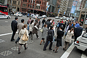 Australia, New South Wales, sydney, road, roads, people, pedestrian, pedestrians, george street.