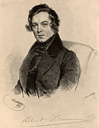 History, composer, composers, german, german composer, german composers, schumann, robert, Robert Schumann, lithograph, lithographs,