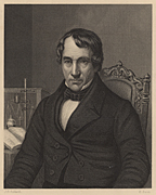 History, Thomas Thomson (1773-1852), Scottish chemist born at Crieff, Perthshire. Regius professor of chemistry at Glasgow university (1817).  From James Sheridan Muspratt 'Chemistry' (London, c1860). Engraving. B