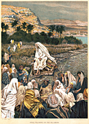 History, religion, christian, Christians, christ, Saviour, saviours, teacher, teachers, preacher, prearchers, preaching, charisma, Jesus, seashore, seashores, bible, bibles, testament, testaments, new testament, St Matthew, Tissot, J.J. Tissot, The Life of our Saviour Jesus Christ, oleograph, olegraphs,