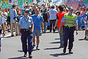 Australia, police, nsw, sydney, walk against warming, global warming, protest, protests, protesting, people, protester, protesters, sign, signs, vote, votes, voting, election, elections, crowd, crowds.