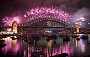Australia, nsw, sydney, new South Wales, entertainment, new years eve, fireworks, architecture, bridge, bridges, harbour bridge, sydney harbour bridge, celebration, celebrations, colour.