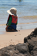 Australia, sa, south australia, adelaide, beach, beaches, seashore, seashores, shoreline, shorelines, child, children, hat, hats