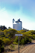 Australia, sa, south australia, silo, silos, grain, sign, signs, sacbh, bush, bushes, storage, agriculture, industry, road, roads, bush, bushes, cungena, dirt, dirt track, dirt tracks, unsealed, unsealed road, unsealed roads, sign, signs.