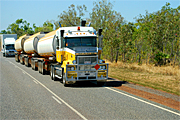 Australia, transport, transportation, vehicle, vehicles, heavy vehicle, heavy vehicles, truck, trucks, road train, road trains, roadtrain, roadtrains, sign, signs.