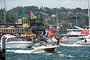 Australia, New South Wales, sydney, Australia Day, Celebration, Celebrations, Australia day celebrations, people, ferry, ferries, boat, boats, boating, vehicle, vehicles, vehicle, vehicles, sign, signs, flag, flags, australian, australian flag, australian flags.