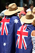 Australia, New South Wales, sydney, Australia Day, Celebration, Celebrations, Australia day celebrations, people, flag, flags, australian, australian flag, australian flags, hat, hats.