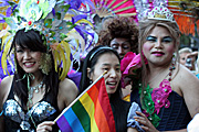 Australia, New South Wales, sydney, parade, parades, mardi gras, gay mardi gras, entertainment, festival, festivals, lesbian, lesbians, homosexual, homosexuals, gay, gays, gay and lesbian mardi gras, tiara, tiaras, jewellery, necklace, flag, flags, earing, earings.