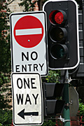 Australia, New South Wales, sydney, sign, signs, roadsign, roadsigns, road sign, road signs, arrow, arrows, traffic light, traffic lights, traffic signal, traffic signals, red, signal, signals, light, lights.