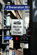 Australia, vic, victoria, melbourne, transport, transportation, vehicle, vehicles, traffic light, traffic lights, traffic signal, traffic signals, red, signal, signals, light, lights, traffic, car, cars, traffic, sign, signs, tram, trams, swanston, swanston street, pedestrian, pedestrains.