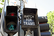 Australia, vic, victoria, melbourne, transport, transportation, vehicle, vehicles, sign, signs, tram, trams.
