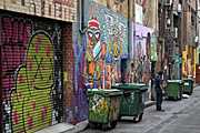 Graffiti, grafitti, deface, defaced, defacing, vandalism, vandalise, vandalisation, melbourne, vic, victoria, australia, alley, alleys, alleyway, alleyways, road, roads, bin, bins, dumpster, dumpsters, garage, garages.