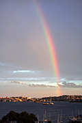 Australia, New South Wales, sydney, sydney harbour, harbour, harbours, rainbow, rainbows.