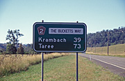 Australia, New South Wales, bucketts way, road, roads, sealed, sealed road, sealed roads, krambach, taree, sign, signs, roadsign, roadsigns, road sign, road signs, great dividing range.
