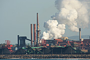 Australia, New South Wales, coal, wollongong, port, ports, kembla, port kemba, industry, smoke, pollution, pollute, pollutes, polluting, chimney, chimneys, factory, factories.
