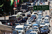 Australia, New South Wales, sydney, transport, traffic, sign, signs, traffic jam, traffic jams, congested, congestion, traffic congestion, car, cars, road, roads, sealed, sealed road, sealed roads, bus, buses.