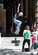 Australia, New South Wales, sydney, people, child, children, puberty, male, males, boy, boys, teenager, teenagers, adolescent, adolescents, teenage boy, teenage boys, skateboard, skateboards, skateboarding, skateboarder, skateboarders, martin place, step, steps, hat, hats.