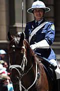 Police, police force, emergency service, emergency services, law, law enforcer, law enforcement, law and order, Australia, New South Wales, sydney, parade, parades, christmas, christmas scene, christmas scenes, people.
