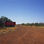 Australia, nt, northern territory, tablelands highway, highway, highways, road, roads, unsealed, unsealed road, unsealed roads, sign, signs.