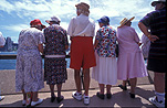 Woman, women, old woman, old women, elderly woman, elderly women, old, aged, elderly, elderly people, female, females, old people, tourist, tourists, tourism, tourism industry, sydney, new South Wales, australia, nsw, opera house, sydney opera house, outdoors, hat, hats, old, aged, elderly.
