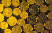Coin, coins, australian coin, australian coins, one dollar coin, one dollar coins, two dollar coin, two dollar coins, gold coin, gold coins, australian currency, money, australian money.