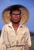 Asia, Asian, Southeast Asia, South East Asian, SE Asia, malaysia, people, man, men, male, males, farmer, farmers, hat, hats, headwear, glasses, spectacles.