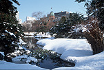 Asia, japan, sapporo, snow, snow scene, snow scenes, winter, river, rivers, Royalty Free Image