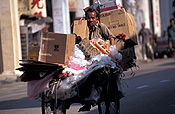 Asia, Asian, Southeast Asia, South East Asian, SE Asia, Malaysia, people, man, men, rubbish, garbage, garbage man, garbage men, occupation, occupations, cart, carts, cardboard, paper, box, boxes, cardboard box, cardboard boxes.