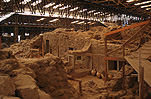 Greece, Europe, Southern Aegean, Southern Aegean region, santorini, excavation, excavations, archaeology, ruin, ruins, akrotiri.