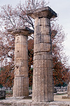 Greece, Europe, Southern Aegean, Southern Aegean region, olympia, ancient olympia, ruin, ruins, column, columns, pillar, pillars, temple, temples, hera, temple of hera, hera temple, doric, doric style, architecture, greek architecture, Greece, Europe, Southern Aegean, Southern Aegean region, olympia, ancient olympia, peloponnese, Elia. 