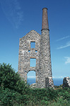 Europe, Western Europe, Britain, British Isles, England, United Kingdom, Great Britain, Bosigran, mine, mines, carn galver mine, penwith, penwith district, cornwall, engine house, engine houses, sky, skies, blue sky, blue skies, AM04,