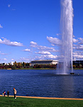 Australia, Canberra, great dividing range, ACT, Australian Capital Territory, water, fountain, fountains, lake, lakes, Lake Burley Griffin.