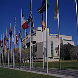 Australia, ACT, Australian Capital Territory, Canberra, great dividing range, high court, high courts, courthouse, courthouses, court house, court houses, Canberra High Court, flag, flags, flag pole, flag poles, flagpole, flagpoles.