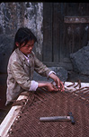 Asia, China, Bangiao, Bangiao Village, Girl, Girls, people, child, Children, weave, weaves, weaving, craft, crafts, carpet weaving, weaving carpet, weaving carpets, asian, asians, asian people, asian child, asian children.