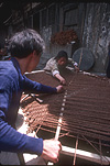 Asia, China, Bangiao, Bangiao Village, Girl, Girls, people, child, Children, weave, weaves, weaving, craft, crafts, carpet weaving, weaving carpet, weaving carpets, asian, asians, asian people, asian child, asian children, man, men, male, males, occupation, occupations.