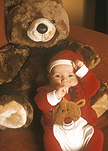 Baby, Babies, people, child, children, christmas, christmas time, christmas scene, christmas scenes, toy, toys, teddybear, teddybears, teddy, teddy bear, teddy bears, teddybear, teddybears, stuffed toy, stuffed toys, stuffed animal, stuffed animals, AM04,