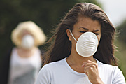 People images, Children, Puberty, Adolescents, Teenagers, Young People, teenage girl, teenage girls, girl, girls, child, children, mask, masks, pollution, air pollution, Australia, Sport pictures, Sports, balloon images, hot air balloons